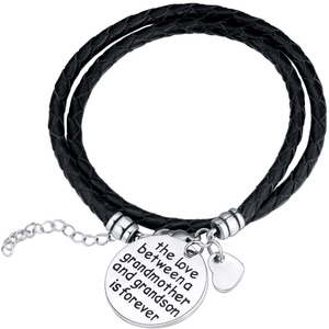 The Love Between A Grandmother and Grandson is Forever Bracelet