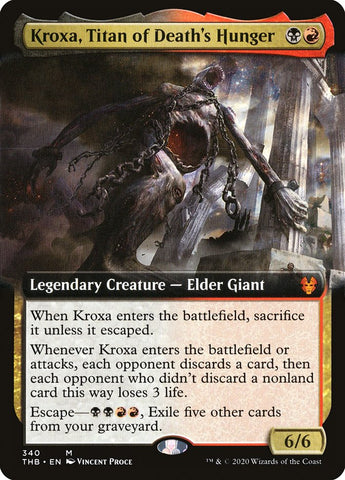 Kroxa, Titan of Death's Hunger (Extended Art) [Theros Beyond Death]