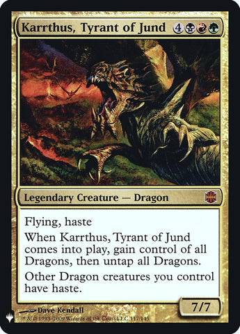 Karrthus NearMint Magic MTG Tyrant of Jund ~ Double Masters