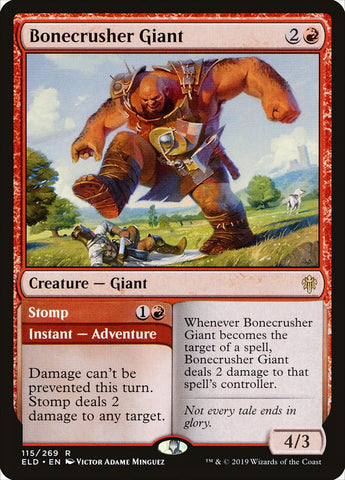 Bonecrusher Giant [Throne of Eldraine]