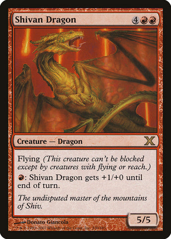 Shivan Dragon [10th Edition]