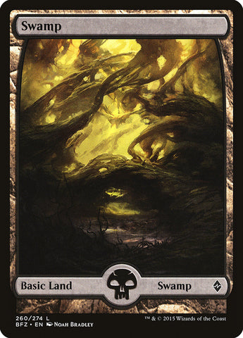 Swamp (260) - Full Art [Battle for Zendikar]