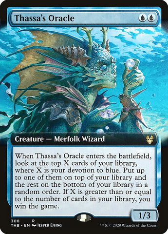 FREE SHIPPING! MTG Theros Beyond Death Thassa/'s Oracle NM Extended Art