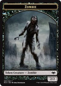 Zombie (007) // Emblem - Wrenn and Six (021) Double-sided Token [Modern Horizons]
