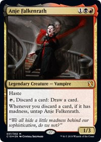 Anje Falkenrath (Commander 2019) [Oversize Cards]