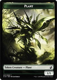 Plant // Snake Double-sided Token [Commander 2019]