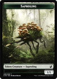 Saproling // Morph Double-sided Token [Commander 2019]