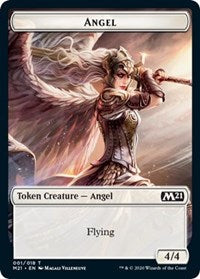 Angel // Treasure Double-sided Token [Core Set 2021]
