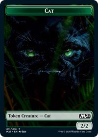 Cat (011) // Dog Double-sided Token [Core Set 2021]