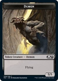 Demon // Zombie Double-sided Token [Core Set 2021]