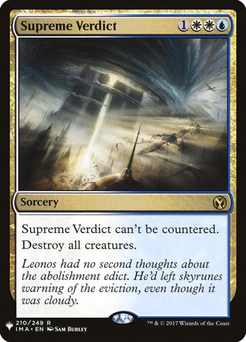 Supreme Verdict [Mystery Booster Cards]