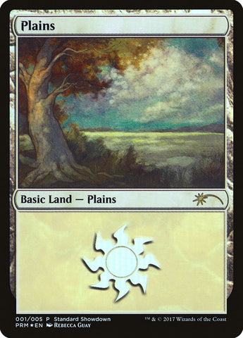 Plains FOIL Standard Showdown Promo LP//NM  Free Ship MTG Ship US Only