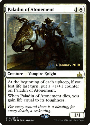 Paladin of Atonement [Prerelease Cards]