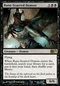 Rune-Scarred Demon [Magic 2012 (M12)]