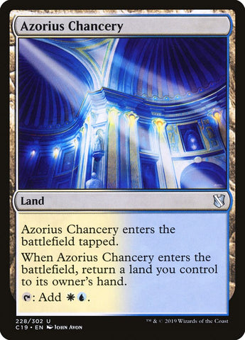 Azorius Chancery [Commander 2019]
