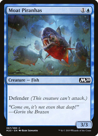 Moat Piranhas [Core Set 2020]