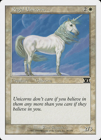 Regal Unicorn [Classic Sixth Edition]