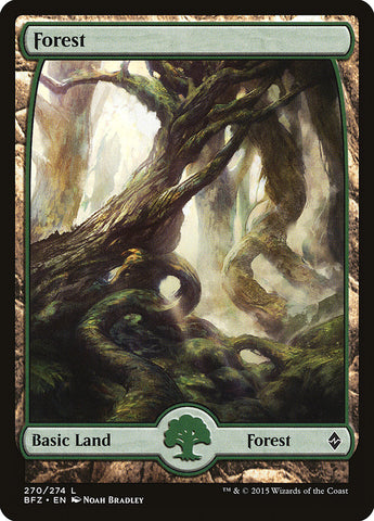 Forest (270) - Full Art [Battle for Zendikar]