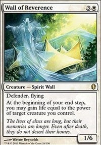 Wall of Reverence [Commander 2013]