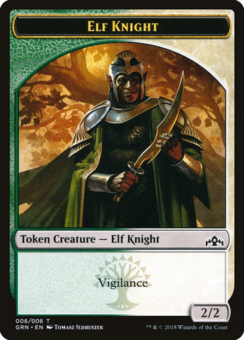 Elf Knight Token [Guilds of Ravnica]