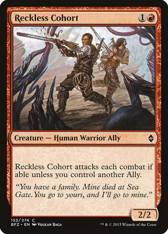 Reckless Cohort [Battle for Zendikar]