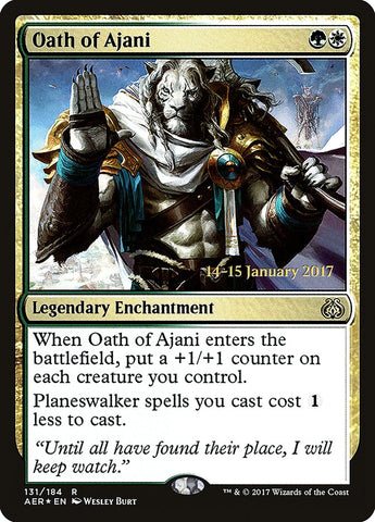 Oath of Ajani [Prerelease Cards]