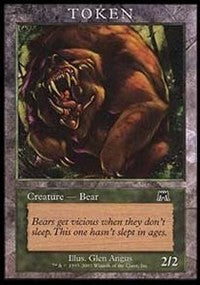 Bear Token (Onslaught) [Magic Player Rewards]