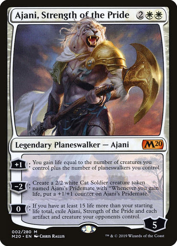 Ajani, Strength of the Pride [Core Set 2020]