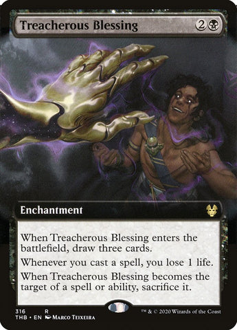 Treacherous Blessing (Extended Art) [Theros Beyond Death]