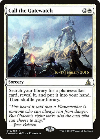 Call the Gatewatch [Prerelease Cards]