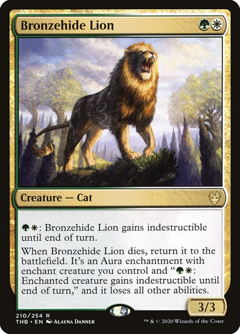 Bronzehide Lion [Theros Beyond Death]