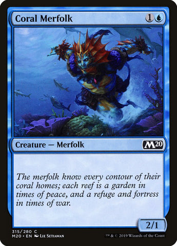 Coral Merfolk [Core Set 2020]