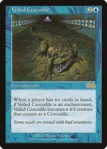 Veiled Crocodile [Urza's Saga]