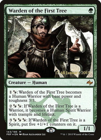 Warden of the First Tree [Prerelease Cards]
