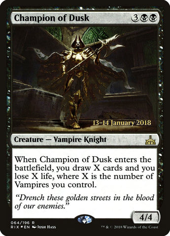 Champion of Dusk [Prerelease Cards]