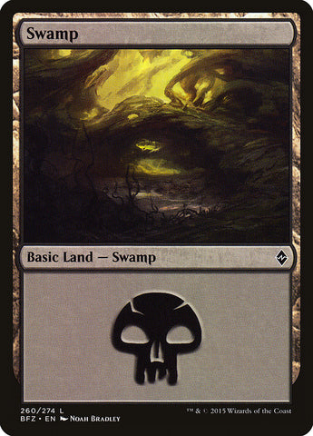 Swamp (260) [Battle for Zendikar]