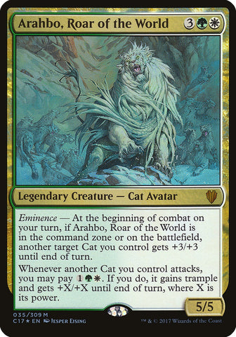 Arahbo, Roar of the World (Commander 2017) [Oversize Cards]