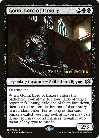 Gonti, Lord of Luxury [Prerelease Cards]