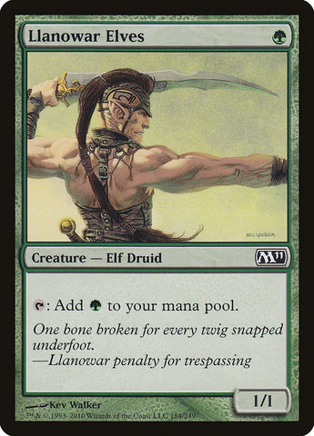 Llanowar Elves [Magic 2011 (M11)]