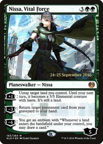 Nissa, Vital Force [Prerelease Cards]