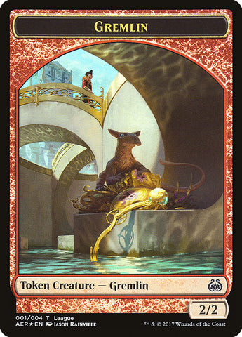 Gremlin // Energy Reserve Double-sided Token [League Promos]