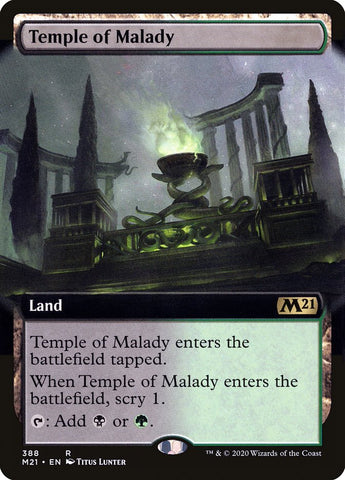 Temple of Malady (Extended Art) [Core Set 2021]