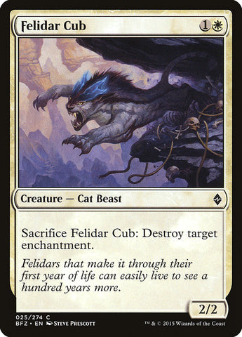 Felidar Cub [Battle for Zendikar]
