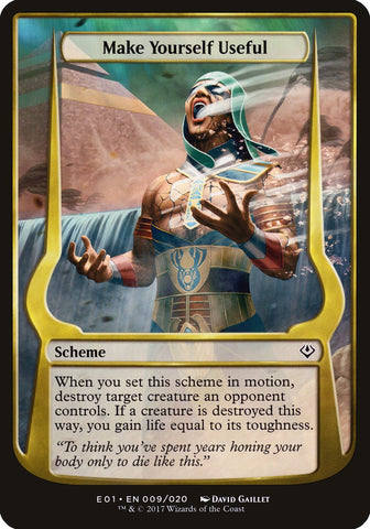 Make Yourself Useful (Archenemy: Nicol Bolas) [Oversize Cards]