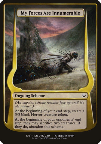 My Forces Are Innumerable (Archenemy: Nicol Bolas) [Oversize Cards]