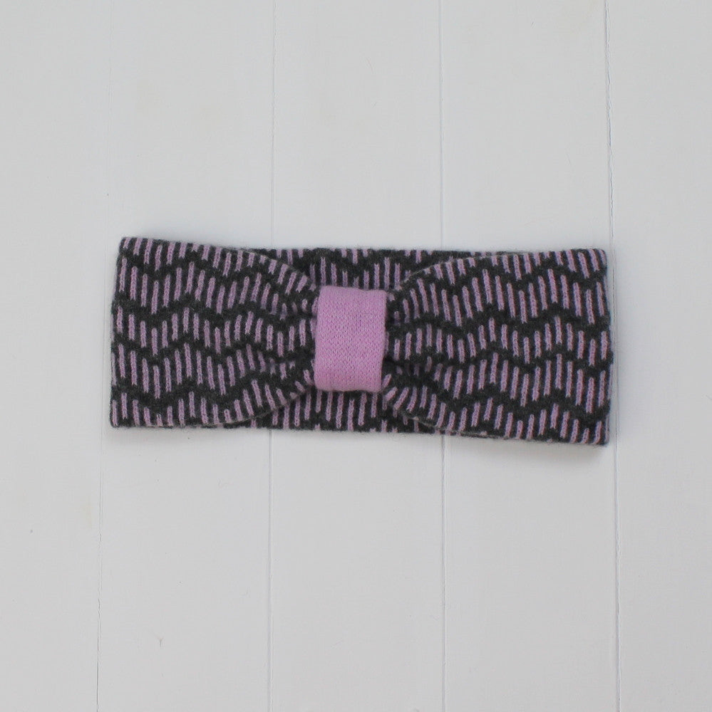 Zig zag headband - cliff and pink