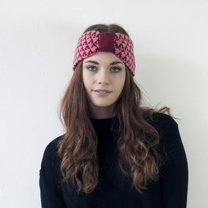 SAMPLE SALE Arrow headband - magma and pink