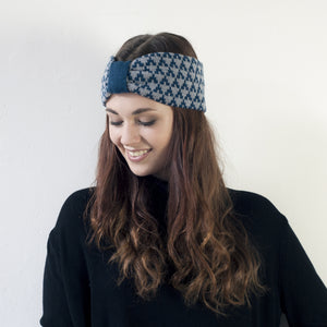 SAMPLE SALE Arrow knitted headband - diesel and seal
