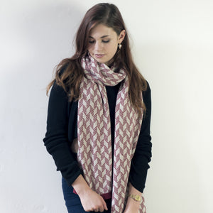 Chevron scarf - magma and linen