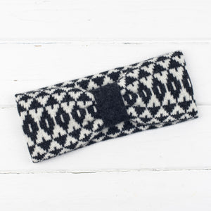 Mirror cowl, headband + wristwarmers set - monochrome